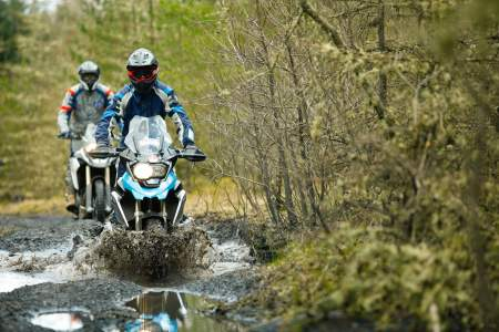 Read Simon Pavey's tips on how to ride in the rain and through deep water