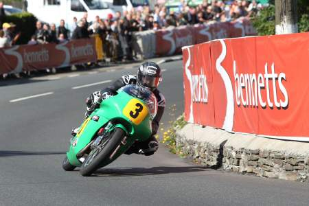 John McGuinness rides the 500cc Paton during the 2013 Classic TT. He will ride it once again in 2014.