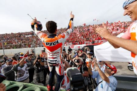 TWENTY YEAR-OLD MARQUEZ TAKES MOTOGP CROWN