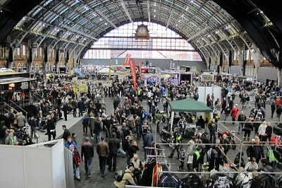 Manchester Central Station now reborn as the Manchester Bike Show