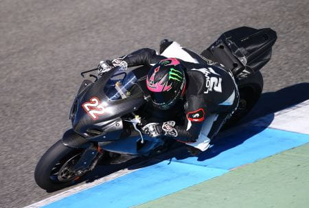 Lowes tested the Suzuki at Jerez