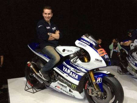 Lorenzo with the new livery]