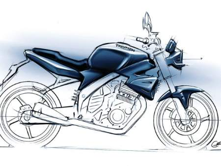 Artist impression of the 250cc Triumph