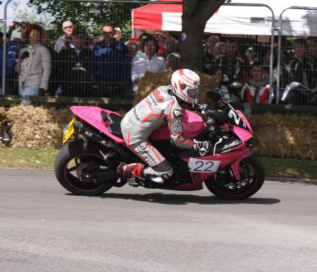 Danny Webb on his last 1,000cc race at The Thundersprint in 2011