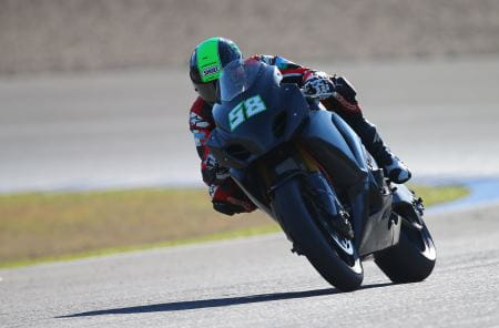 Laverty testing in Jerez