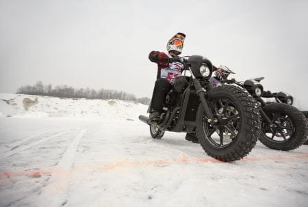 The Harley Street 750 goes well on ice