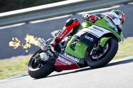 Sykes on fire in Jerez
