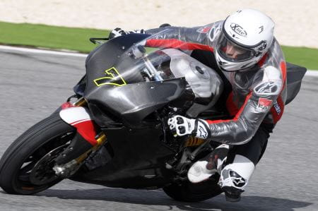 Davies on the Panigale in testing