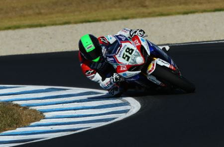 Laverty was close to Sykes' pace in Phillip Island