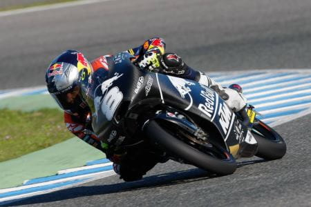 Miller topped the Moto3 time sheets