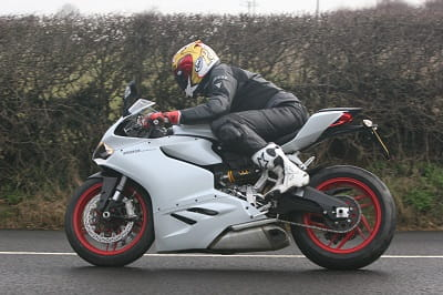 Ducati 899 Panigale is a thing of beauty, even with our giant tester on board.