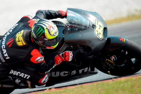 Cal Crutchlow will race his Ducati GP14 in the Open Class