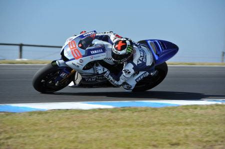 Lorenzo finished the test on top