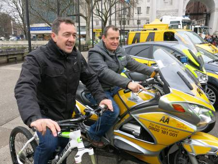 John McGuinness and Chris Boardman launch a new AA campaign