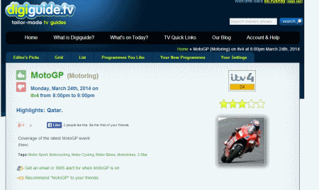 MotoGP listed on ITV4