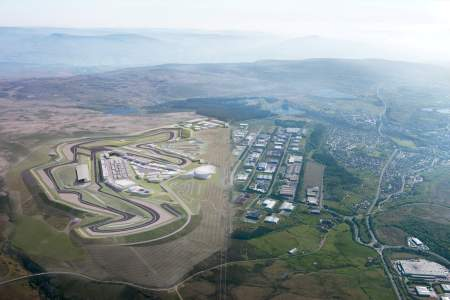 Aerial view of the Circuit of Wales which has come under scrutiny by a BBC investigation