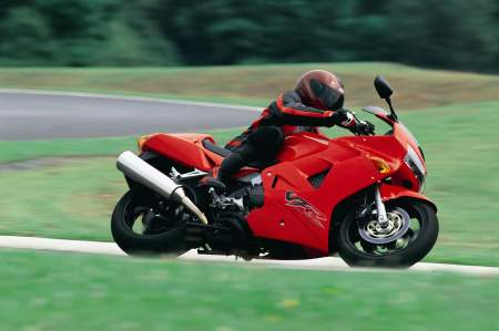 Honda VFR - 2000 model in action