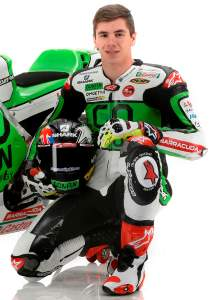 Scott Redding poses with his 2014 bike