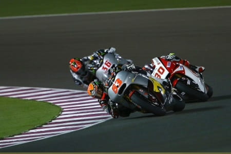 The Moto2 action was intense