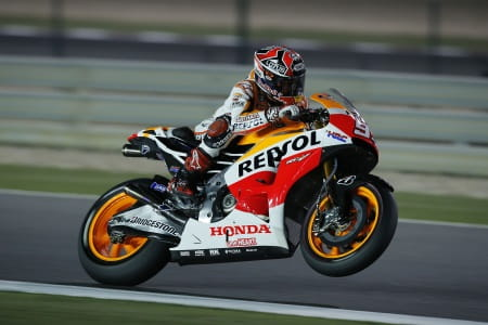 Marquez was strong despite a recently broken leg