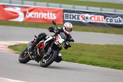 Ducati Hypermotard SP on test. It's great, for about 30 miles.