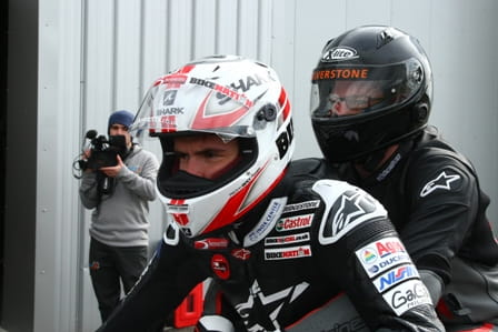 MotoGP's Scott Redding offers pillion rides at Silversrtone