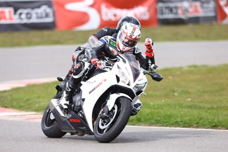 Thumbs up - Scott Redding takes pillions at Sliverstone