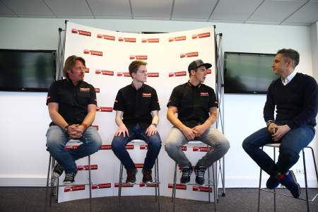 Charley Boorman, Joe Francis, Scott Redding and Matt Roberts at Bennetts Media Day