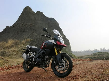 Suzuki's V-Strom 1000 is King of The Mountain, or something like that.