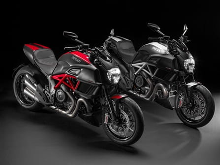 Diavel Carbon; available in two colour combinations