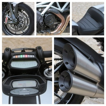 Ducati's Diavel Carbon - close up