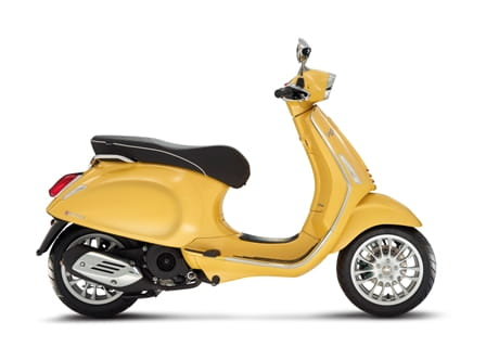 Vespa Sprint, also available in macho yellow