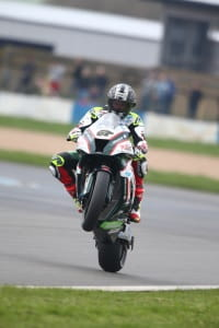 Byrne smashed the lap record at Donington