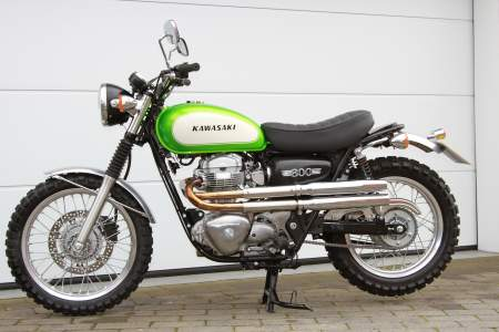 The beautiful Kawasaki W800 scrambler