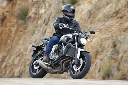 Yamaha MT-07 on test in Spain