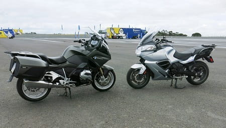 BMW's 2014 RT meets Triumph's Trophy 1200