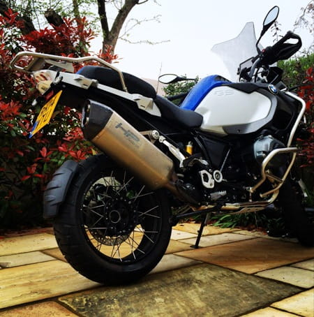 Boorman's loaned BMW R1200GS Adventure