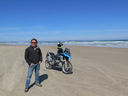 Better than a Donkey, BMW's R1200GS at the beach