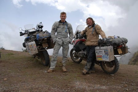 McGregor and Boorman during their 2004 Long Way Round adventure