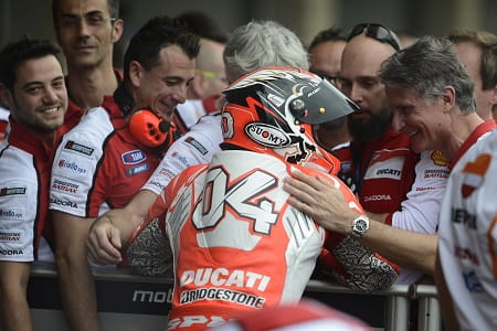 It was a different story for Dovizioso