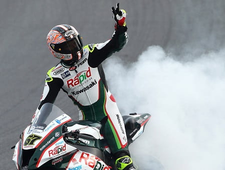 Byrne stormed to the double at Brands Hatch