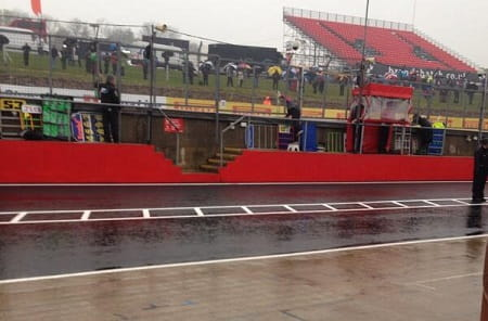 It was very wet at Brands Hatch