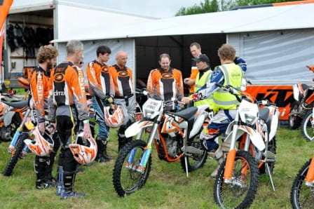 KTM briefing with Ady Smith