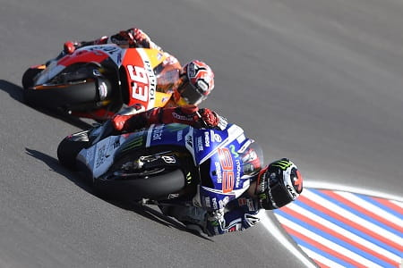 Lorenzo led for the first seventeen laps