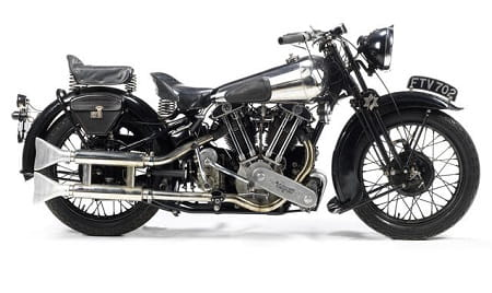 This Brough fetched £250,000 at Sunday's auction at Stafford Classic Show.