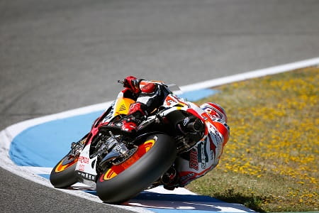 Marquez topped yesterday's MotoGP in Jerez