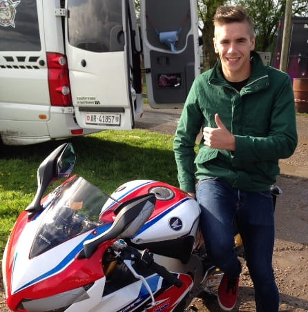 Scott Redding with his Fireblade SP