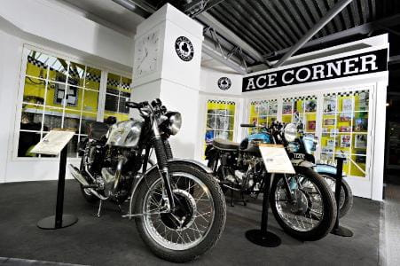 Ace Cafe display