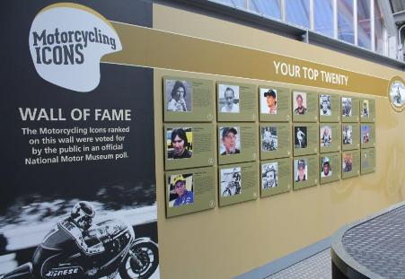 The Top 20 Motorcycling Icons display - couldn't see Marc Potter on there...