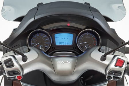Piaggio's neat and contemporary display